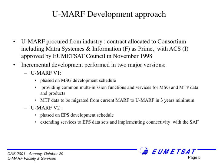 U-MARF Development approach
