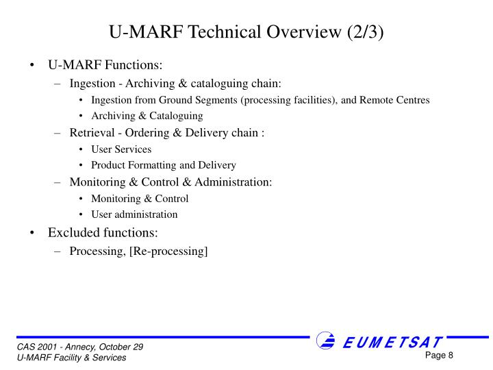 U-MARF Technical Overview (2/3)