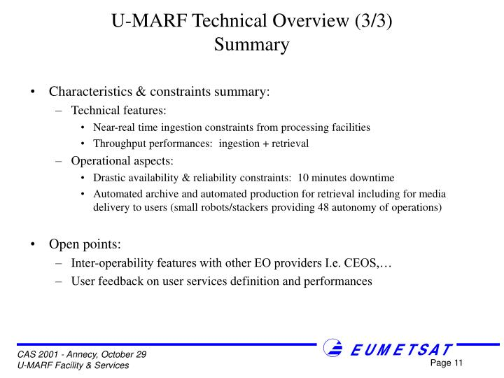 U-MARF Technical Overview (3/3)