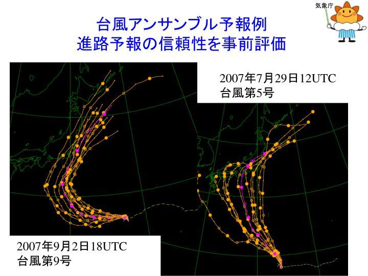 台風アンサンブル予報例
