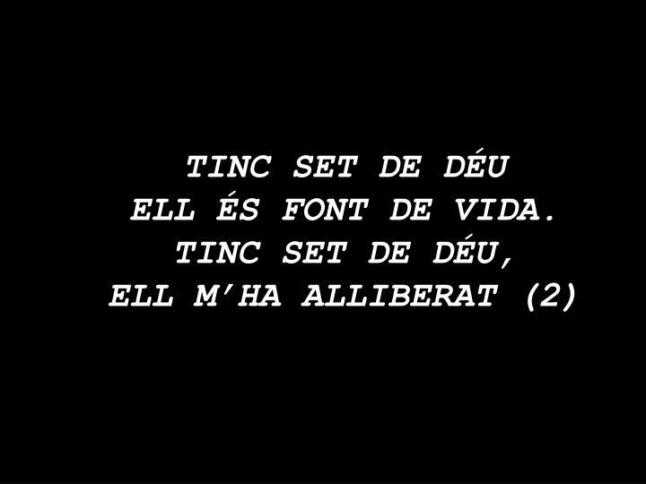 TINC SET DE DÉU