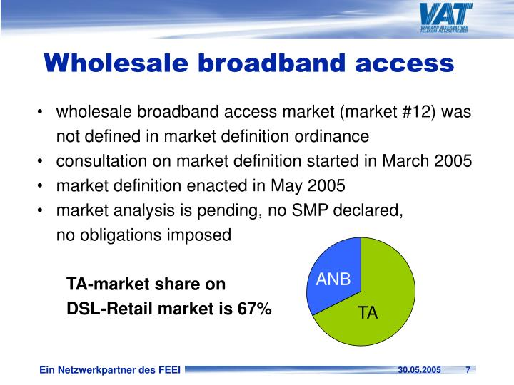 Wholesale broadband access