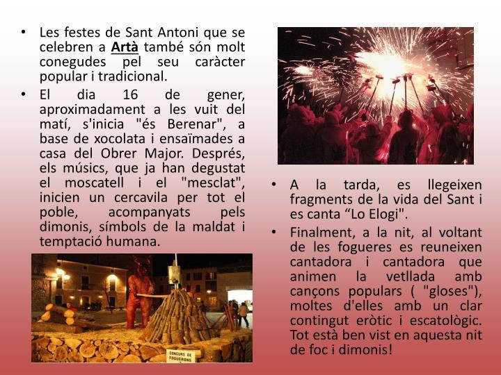 Les festes de Sant Antoni que se celebren a