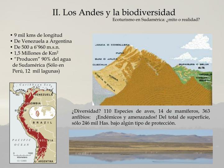 II. Los Andes y la biodiversidad