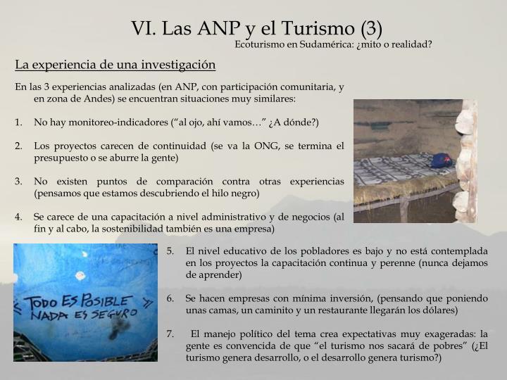 VI. Las ANP y el Turismo (3)