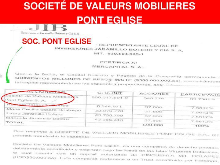 SOCIETÉ DE VALEURS MOBILIERES