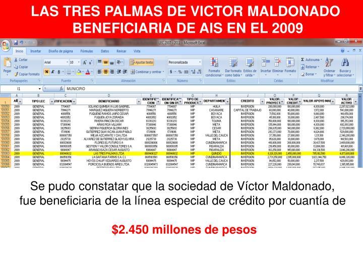 LAS TRES PALMAS DE VICTOR MALDONADO