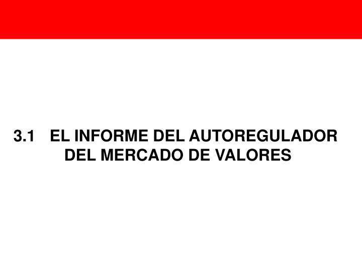 3.1EL INFORME DEL AUTOREGULADOR