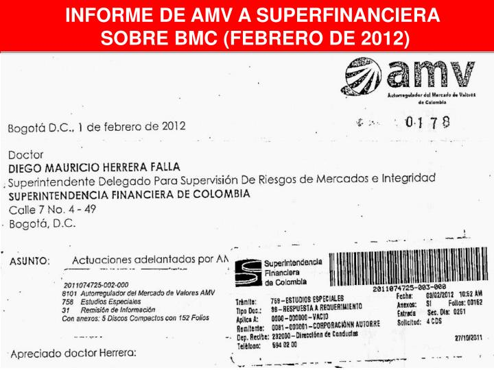 INFORME DE AMV A SUPERFINANCIERA