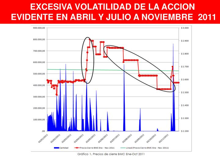 EXCESIVA VOLATILIDAD DE LA ACCION