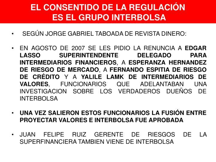EL CONSENTIDO DE LA REGULACIÓN