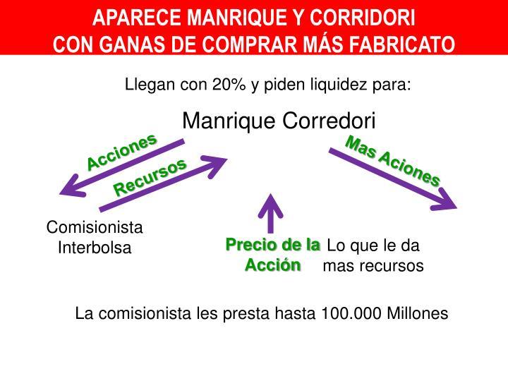 APARECE MANRIQUE Y CORRIDORI
