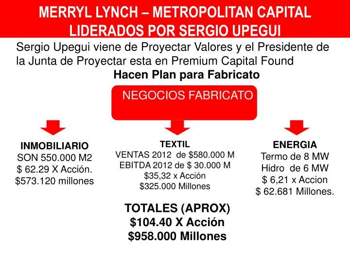 MERRYL LYNCH – METROPOLITAN CAPITAL LIDERADOS POR SERGIO UPEGUI