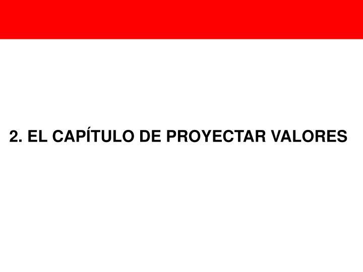 2. EL CAPÍTULO DE PROYECTAR VALORES