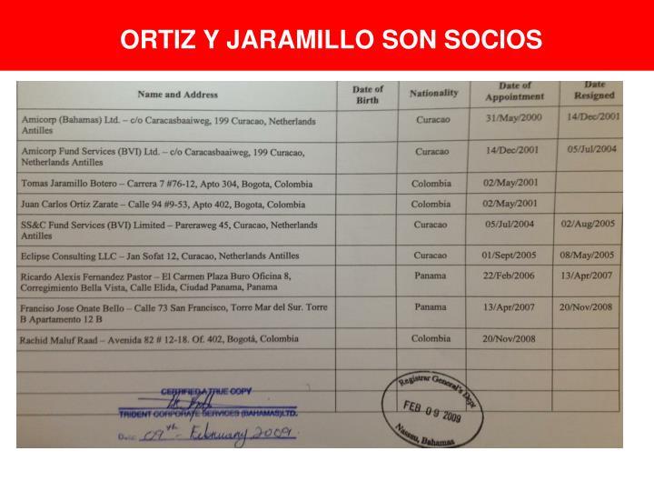 ORTIZ Y JARAMILLO SON SOCIOS