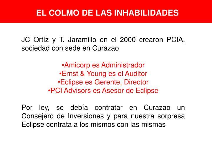 EL COLMO DE LAS INHABILIDADES