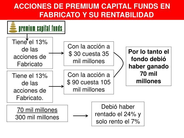 ACCIONES DE PREMIUM CAPITAL FUNDS EN FABRICATO Y SU RENTABILIDAD