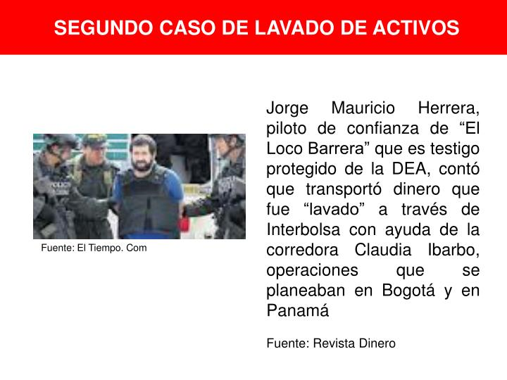 SEGUNDO CASO DE LAVADO DE ACTIVOS