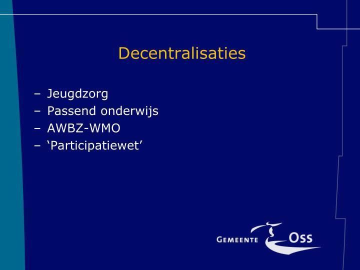 Decentralisaties