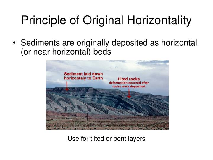 Original horizontality relative dating fossils 6