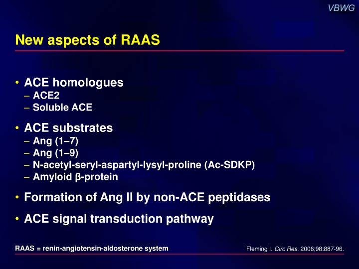 New aspects of raas