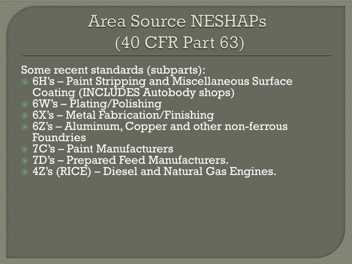 Area Source NESHAPs