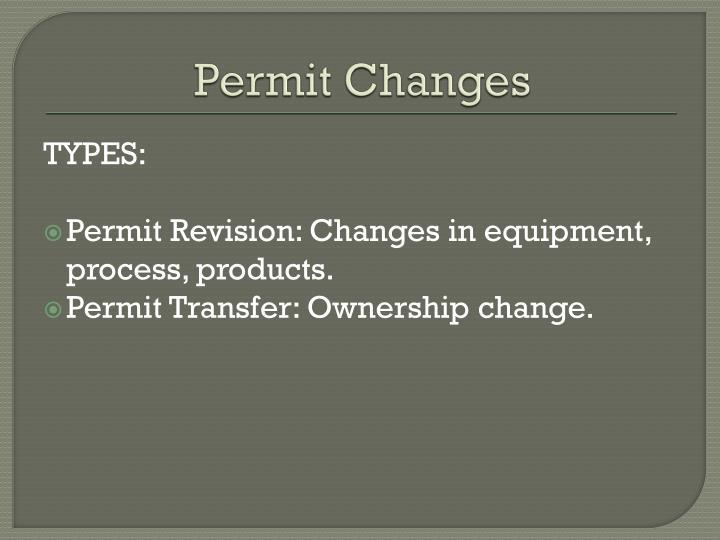 Permit Changes