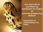 ano ang mali sa pananaw ng estudyante ito tungkol sa pananampalatayang biblikal