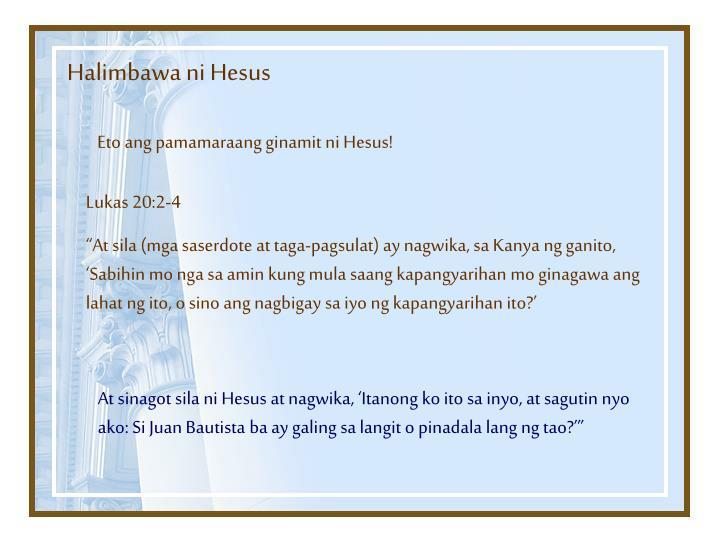 Halimbawa ni Hesus