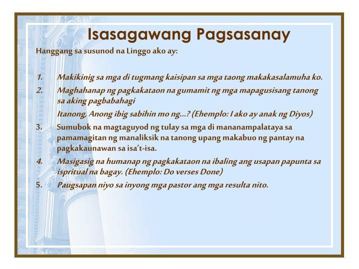 Isasagawang Pagsasanay