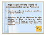 mga ilang pasimulang tanong na makakapagladlad ng mga paniniwala
