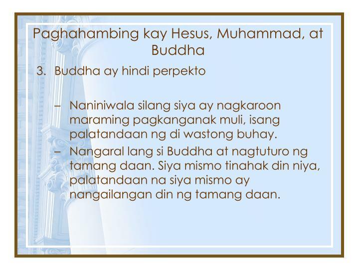 Paghahambing kay Hesus, Muhammad, at Buddha