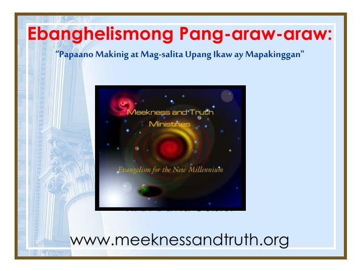 Ebanghelismong Pang-araw-araw: