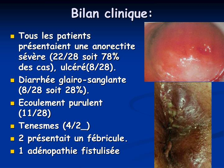 Bilan clinique: