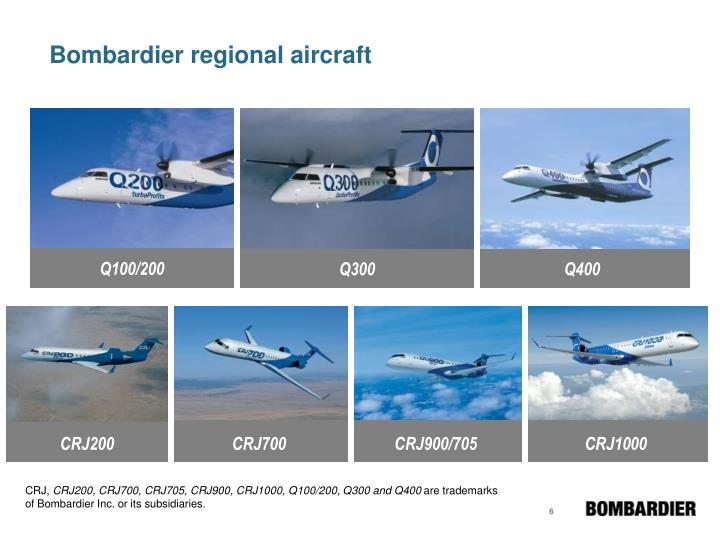 Bombardier regional aircraft