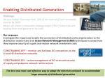 enabling distributed generation
