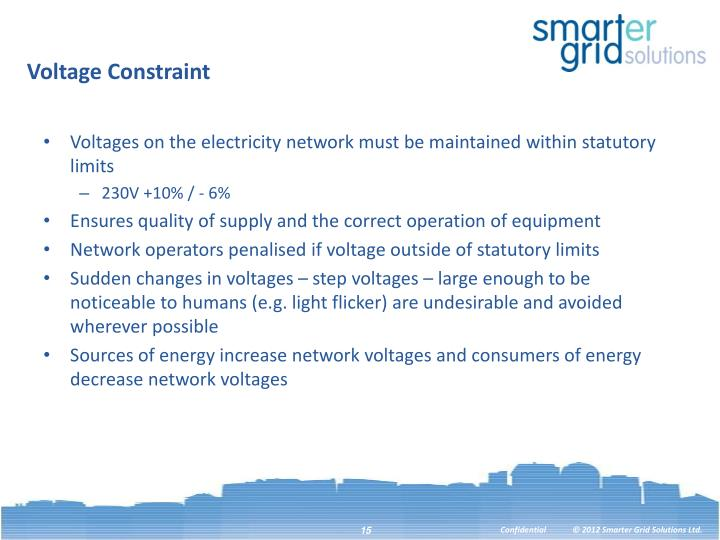 Voltage Constraint