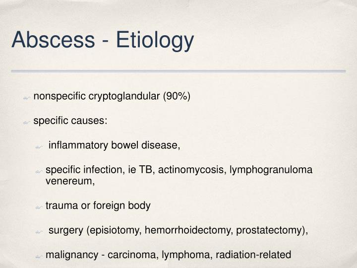 Abscess - Etiology