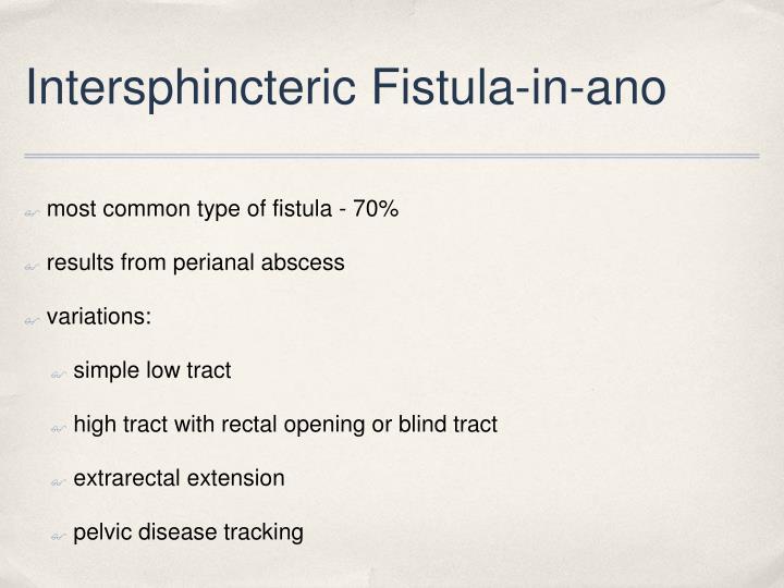 Intersphincteric Fistula-in-ano