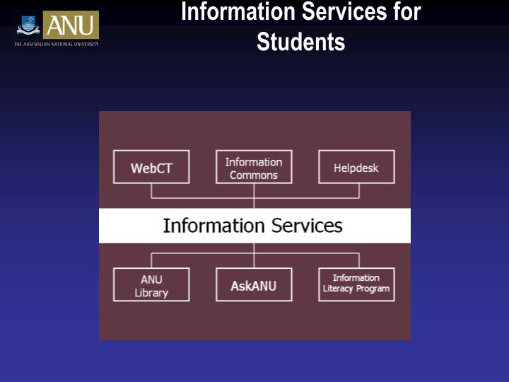 Information Services for Students