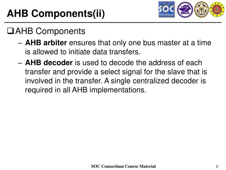 AHB Components(ii)