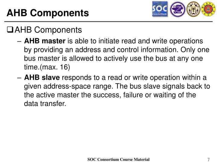 AHB Components