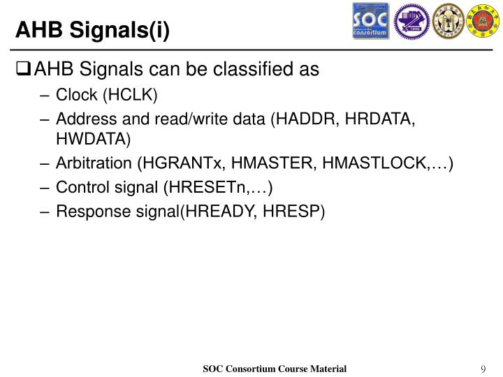 AHB Signals(i)