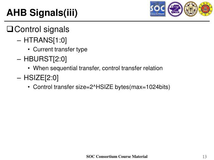 AHB Signals(iii)