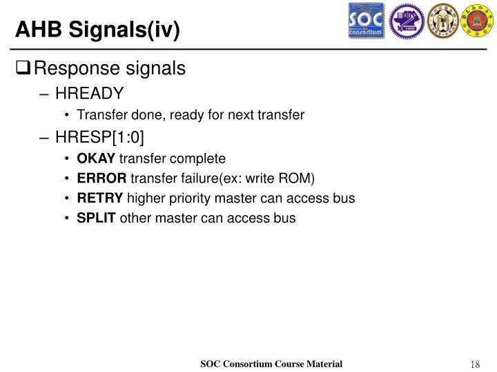 AHB Signals(iv)