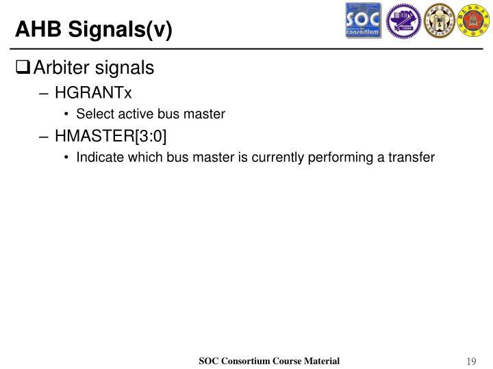 AHB Signals(v)