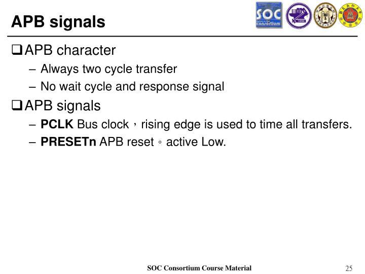 APB signals