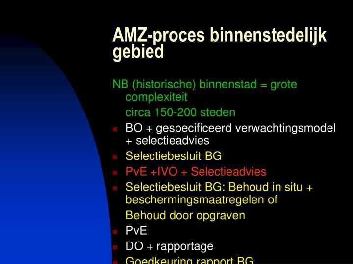 AMZ-proces binnenstedelijk gebied