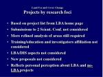 land use and cover change projects by research foci