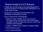 remote sensing in lucc research
